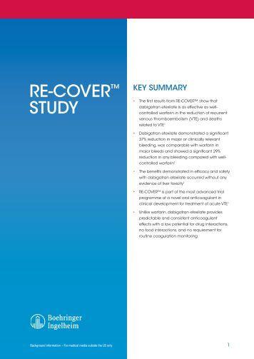 RE-COVER™ Study - Boehringer Ingelheim