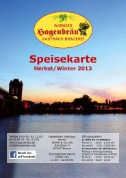 Winterspeisekarte 2013/14 - Hagenbräu