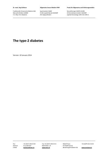 The type-2 diabetes - Ever.ch