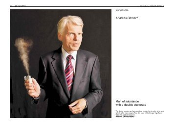Andreas Barner? Man of substance with a ... - Boehringer Ingelheim