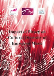 Impact of Piracy on Cultural Diversity of European Music - IFPI