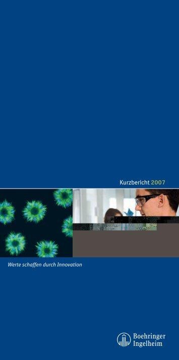 Kurzbericht 2007 - Boehringer Ingelheim
