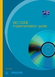 SID CODE implementation guide - IFPI
