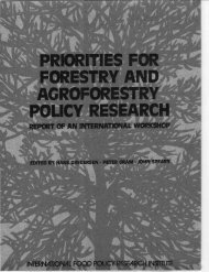 Priorities for Forestry and Agroforestry Policy Research