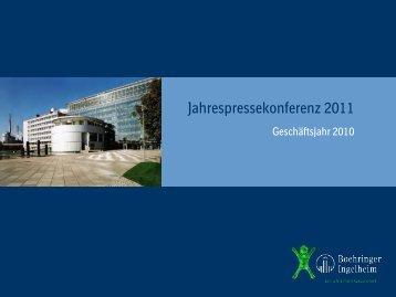 Jahrespressekonferenz 2011 - Boehringer Ingelheim