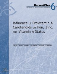 Influence of Provitamin A Carotenoids on Iron, Zinc, and Vitamin A ...