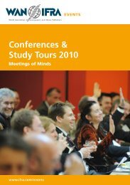 Conferences & Study Tours 2010 - WAN-IFRA