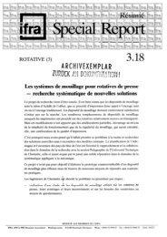 Les systèmes de mouillage pour rotatives de presse - recherche ...