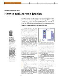 How to reduce web breaks