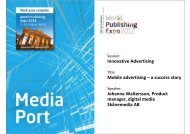 Innovative Advertising Mobile advertising – a success ... - WAN-IFRA
