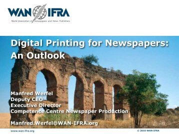 Digital Printing for Newspapers - WAN-IFRA