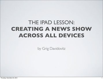 creating a news show across devices