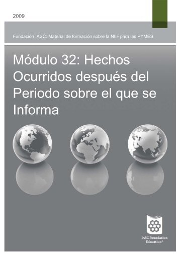 Hechos Ocurridos despues del Período - International Accounting ...