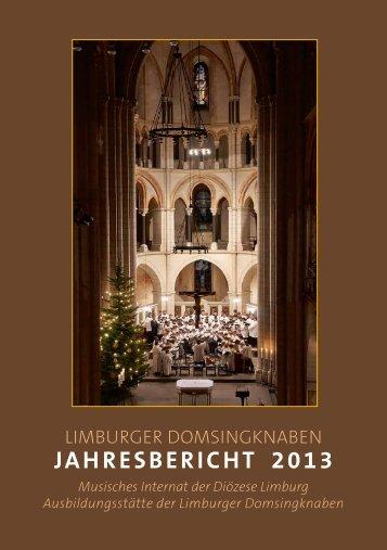 Jahresbericht 2013 - Limburger Domsingknaben