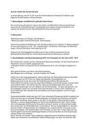 Sitzungsbericht GR-Sitzung 09.12.2013 - Friolzheim