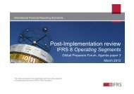 Post-Implementation review - International Accounting Standards ...