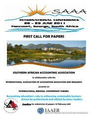 first call for papers - International Accounting Standards Board