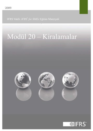 Modül 20 – Kiralamalar - International Accounting Standards Board