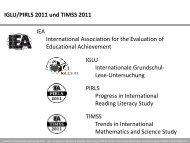 IGLU/PIRLS 2011 und TIMSS 2011 IEA International ... - IFS