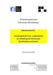 Entwicklungskonzept Dortmunder Berufskollegs - IFS