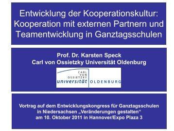 Entwicklung der Kooperationskultur: Kooperation mit externen ...