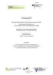 """Herbsttagung 2010 """"Neue Steuerung – alte Ungleichheiten?"""" - IFS"""