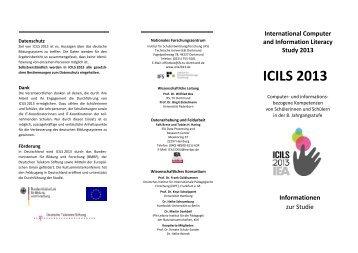 Informationsflyer zu ICILS 2013 - IFS
