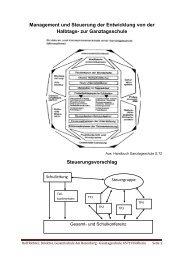 Management und Steuerung der Entwicklung von der Halbtags ... - IFS