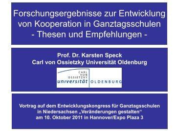 Forschungsergebnisse zur Entwicklung von Kooperation in ... - IFS