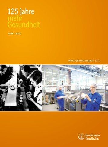 125 Jahre mehr Gesundheit - Boehringer Ingelheim