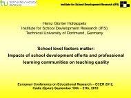 school policy on teaching - IFS
