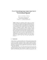 Process-Oriented Requirement Analysis Supporting the Data ...