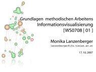 Informationsvisualisierung [WS0708 | 01 ]