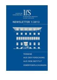 Newsletter 1| 2013 - Institut für Sozialforschung Frankfurt am Main