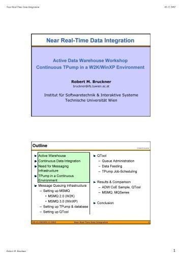 Near Real-Time Data Integration - Technische Universität Wien