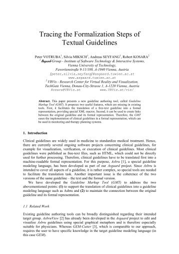 Tracing the Formalization Steps of Textual Guidelines - Information ...