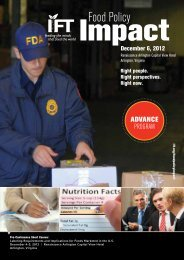Program - Institute of Food Technologists