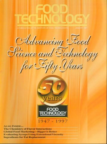 Food Technology magazine's 50th Anniversary - Institute of Food ...