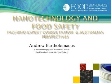 Nanotechnology in food Australian and International perspectives