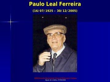 Paulo Leal Ferreira (1925-2005) - Instituto de Física Teórica - Unesp