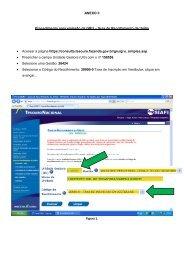 Procedimentos para GRU - IFTO