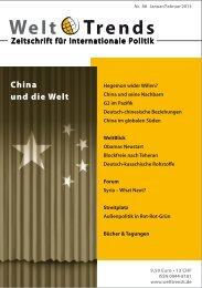 WeltBlick Obamas globale Strategie PDF - WeltTrends