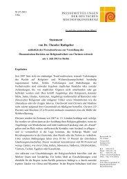 Statement von Dr. Theodor Rathgeber - Deutsche Bischofskonferenz