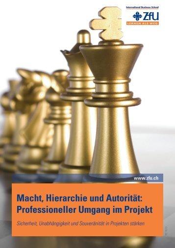 Macht, Hierarchie und Autorität - ZfU International Business School