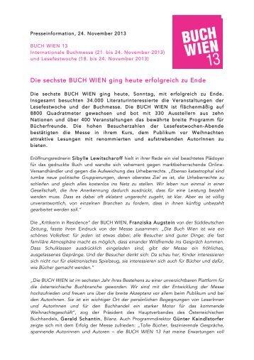 Download Presseaussendung.pdf - Buch Wien