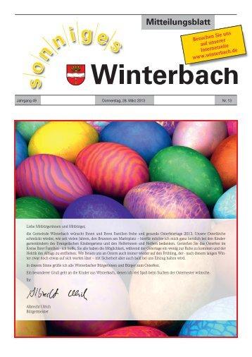 Mitteilungsblatt KW 13/2013 - Gemeinde Winterbach
