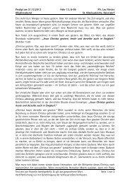 Predigt am 31.12.2013 Hebr 13, 8-9b Pfr. Leo Förster ... - Erlangen
