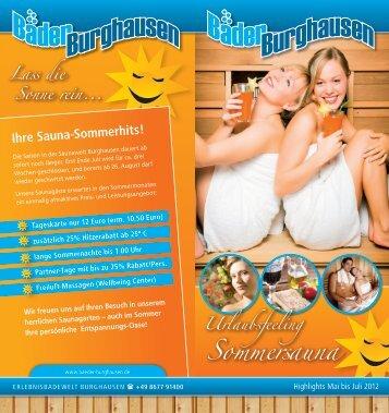 Ihre Sauna-Sommerhits!
