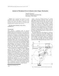Analysis of Mechanical Error in Quick-return Shaper ... - IFToMM