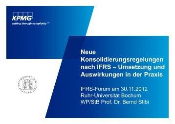 Neue Konsolidierungsregelungen nach IFRS – Umsetzung und ...